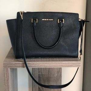 Michael Kors Selma Saffiano Leather Medium Satchel